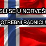 POSLOVI INOSTRANSTVO – POSAO U NORVEŠKOJ – Plata do 3.500€ – Plaćena avionska karta do Norveške